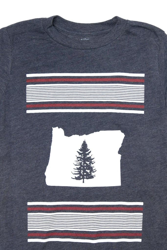 Oregon Pine Navy Kid's Tee