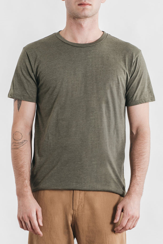 Men's Bridge & Burn Basic Tee Heather Olive