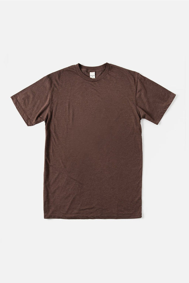 Men's Bridge & Burn Basic Tee Heather Brown