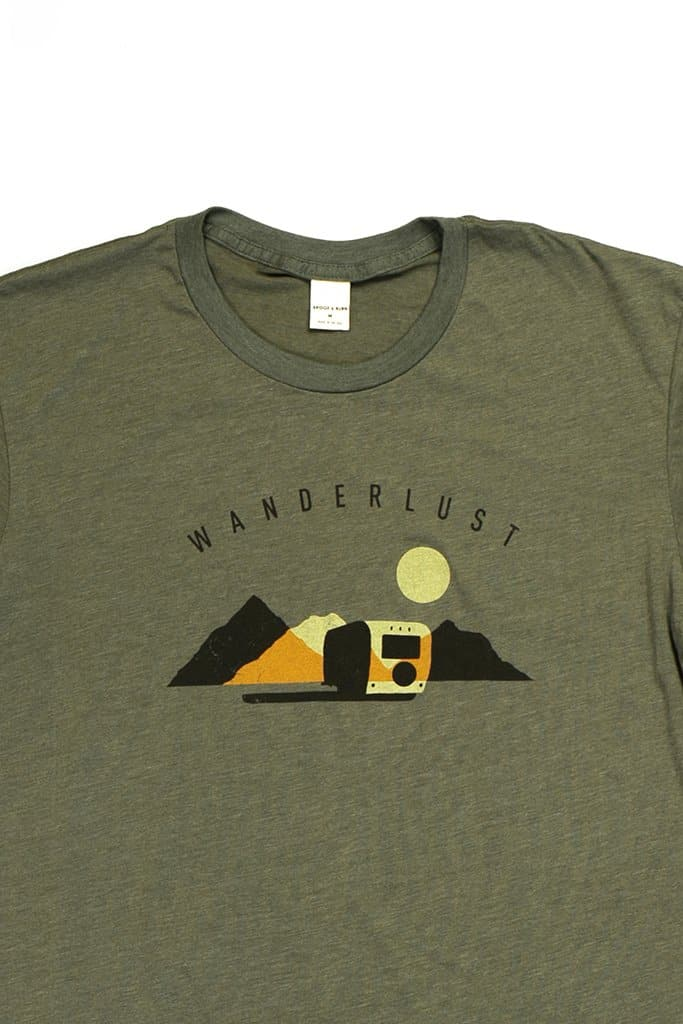 Men's Wanderlust Olive T-Shirt
