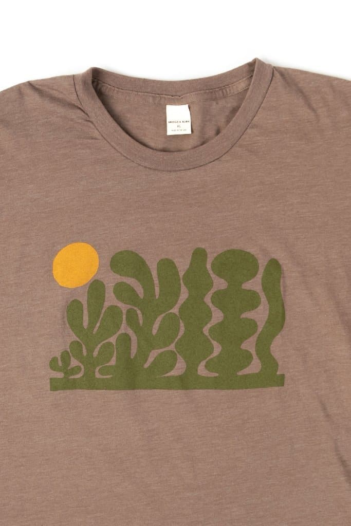 Bridge & Burn Men's Garden Heather Brown t-shirt