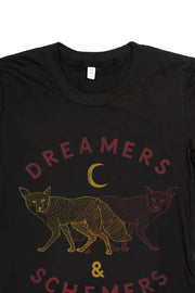 Women's Dreamers & Schemers Black T-Shirt