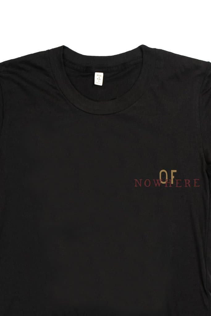 Women's No Where Black T-Shirt