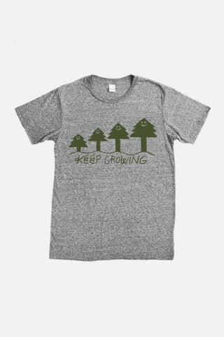 Women's Keep Growing By Jason Sturgill Grey