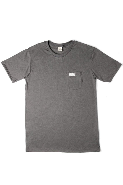 Men's Bridge & Burn Search & Enjoy Pocket Tee Grey
