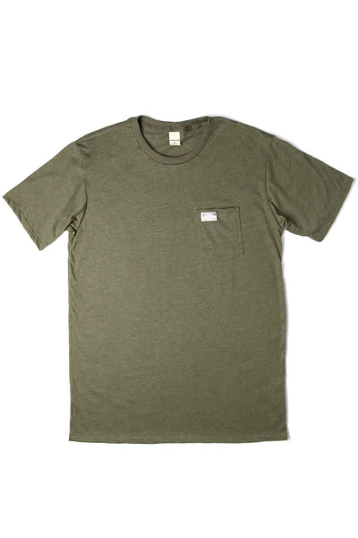 Men's Bridge & Burn Search & Enjoy Pocket Tee Olive