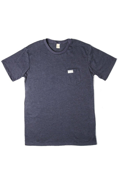 Men's Bridge & Burn Search & Enjoy Pocket Tee Navy