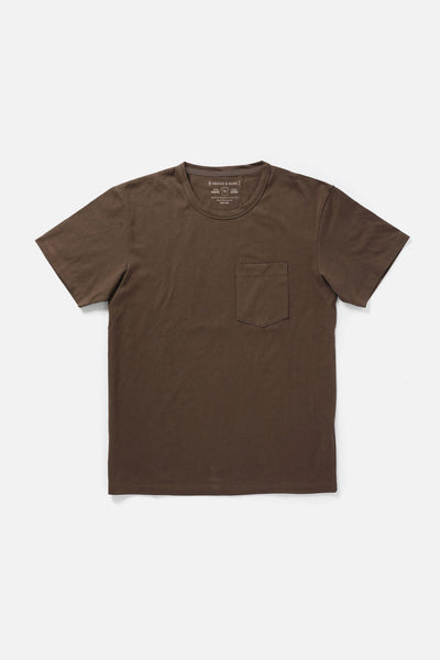 Men's Organic Pocket Tee Bark