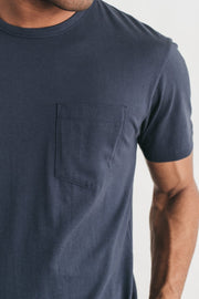 Men's Premium Pocket Tee Navy