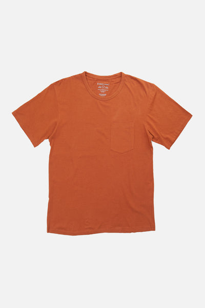 Men's Organic Pocket Tee Spice