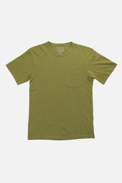 Men's Organic Pocket Tee Olive