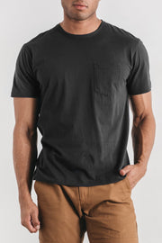 Men's Premium Pocket Tee Charcoal