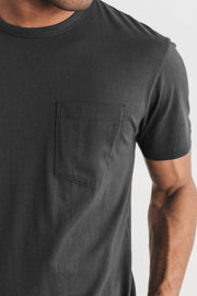 Men's Organic Pocket Tee Charcoal