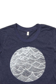 Women's Waves Navy T-Shirt