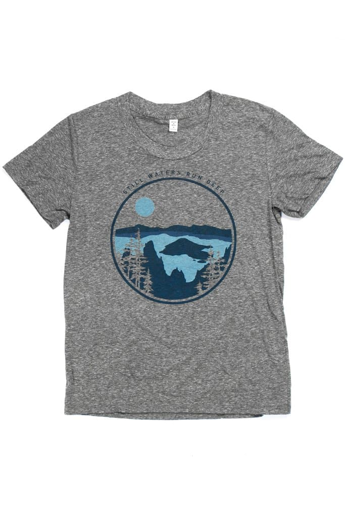 Women's Still Waters Grey T-Shirt