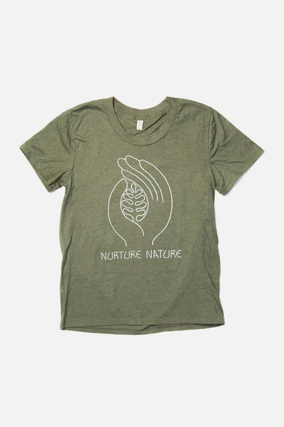 Women's Nurture Nature Olive cotton polyester tshirt