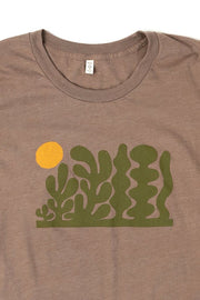 Bridge & Burn Women's Garden Heather Brown t-shirt