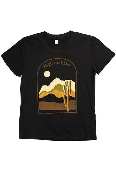 Women's High & Dry Black T-Shirt