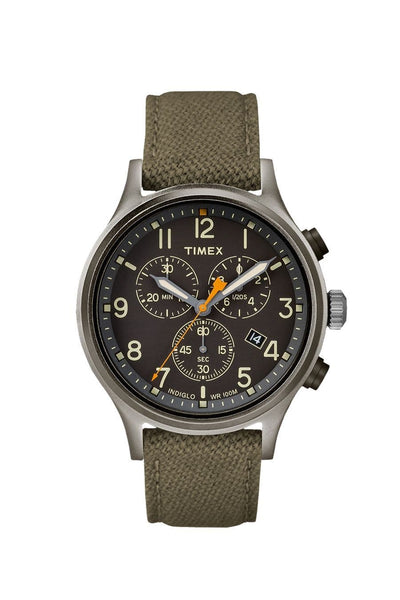 Timex Allied Chronograph Watch Olive Black