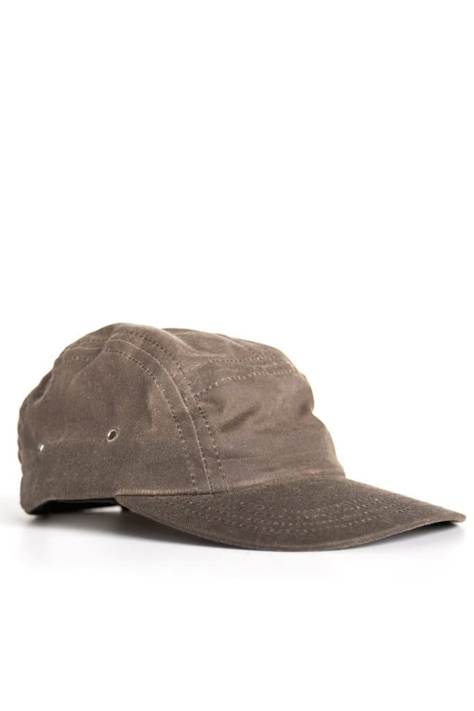 Camper 5 Panel Cap Umber Waxed Canvas