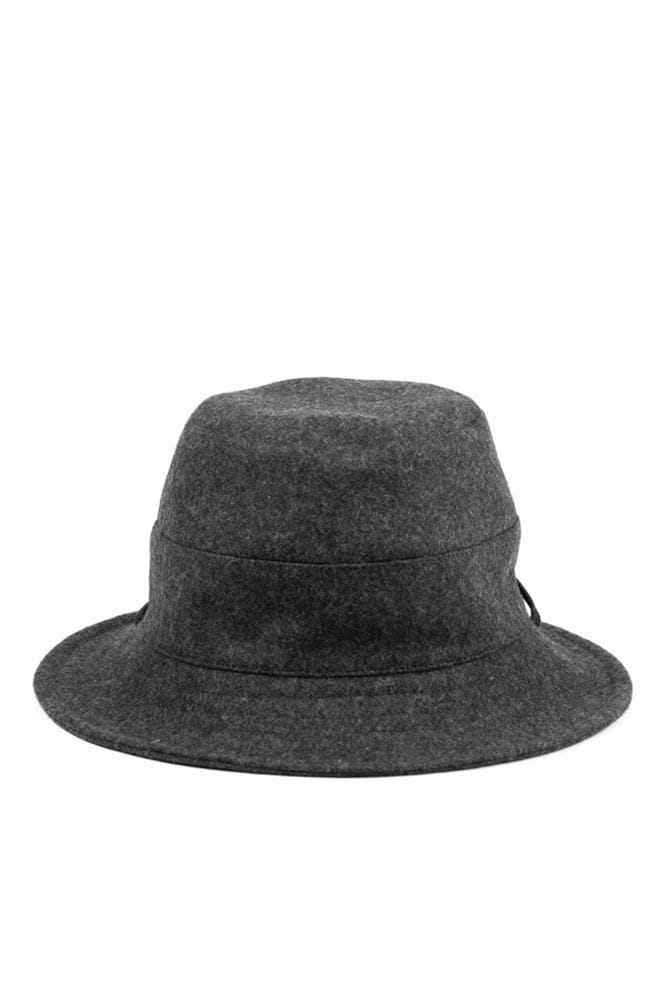 Tsuyumi Bucket Hat With String Charcoal