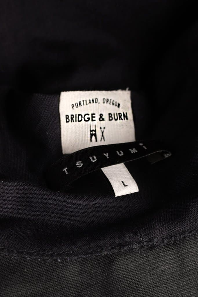 Bridge & Burn x Tsuyumi Mid Brim Bucket Hat Navy Chera