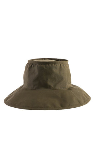 Bridge & Burn x Tsuyumi Mid Brim Bucket Hat Olive Staywax