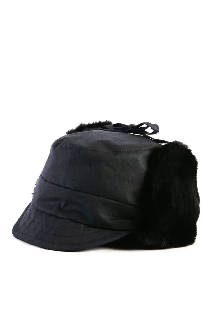 Bridge & Burn x Tsuyumi Trapper Hat Dark Navy Chera