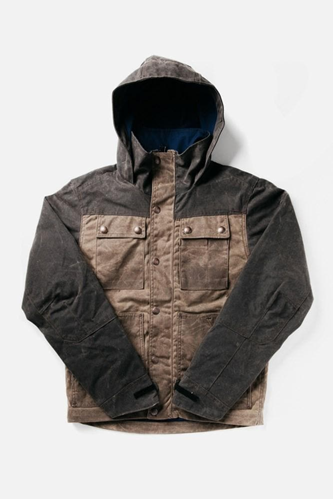 WILD x Bridge & Burn Parka Dark Oak Chocolate Colorblock