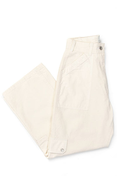 W'menswear Tropical Combat Pants Off White