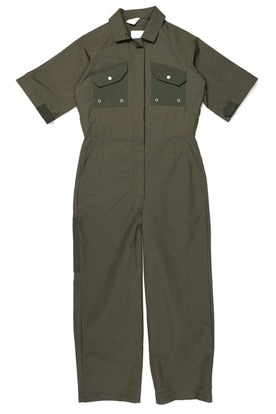 W'menswear Tropical Fieldwork Suit Green women's jumpsuit