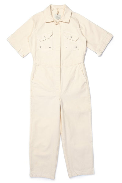W'menswear Tropical Fieldwork Suit White women's jumpsuit