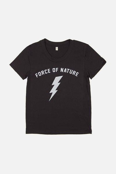 Women's Force of Nature Black T-Shirt