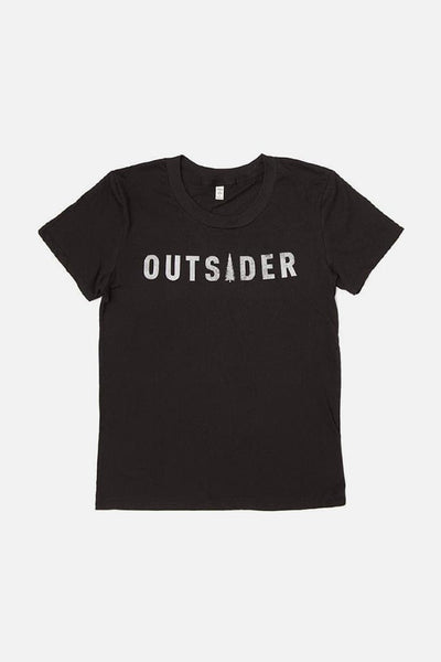 Women's Outsider Black T-Shirt