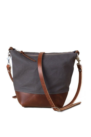 Wood&Faulk Field Bag Pewter