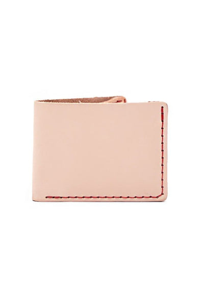 Wood & Faulk / B&B Slim Bill Fold-Natural