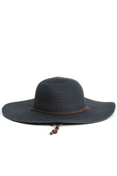 Straw Sun Hat Navy