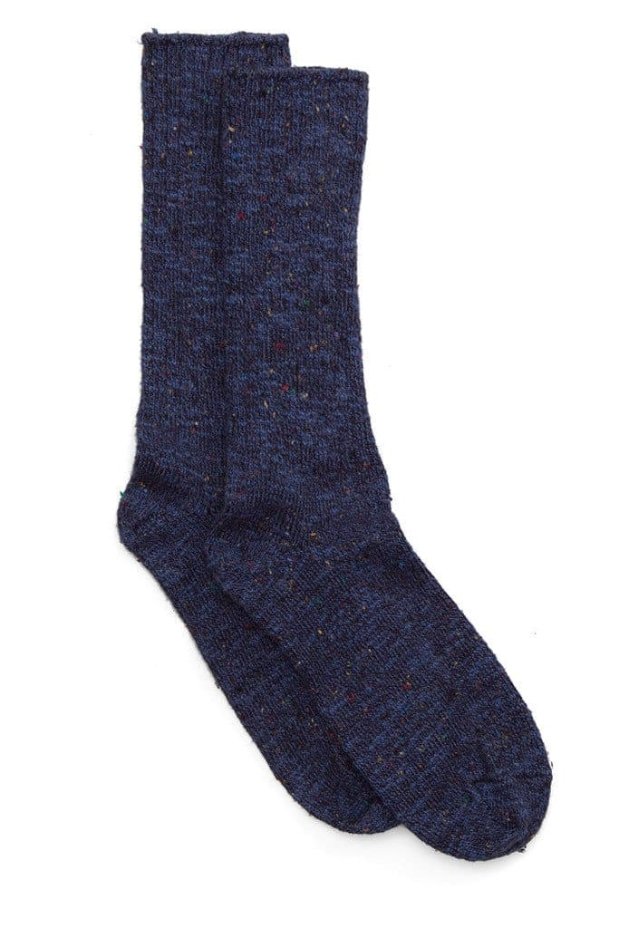 Two Feet Ahead Tweed Calf High Navy