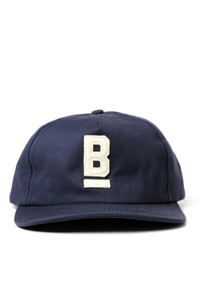 B Flat Cotton Twill Cap Navy