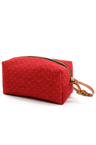 Kiriko Dopp Kit Red Kagasuri