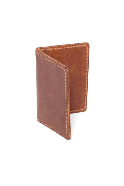 Wood&Faulk Front Pocket Wallet Medium Brown