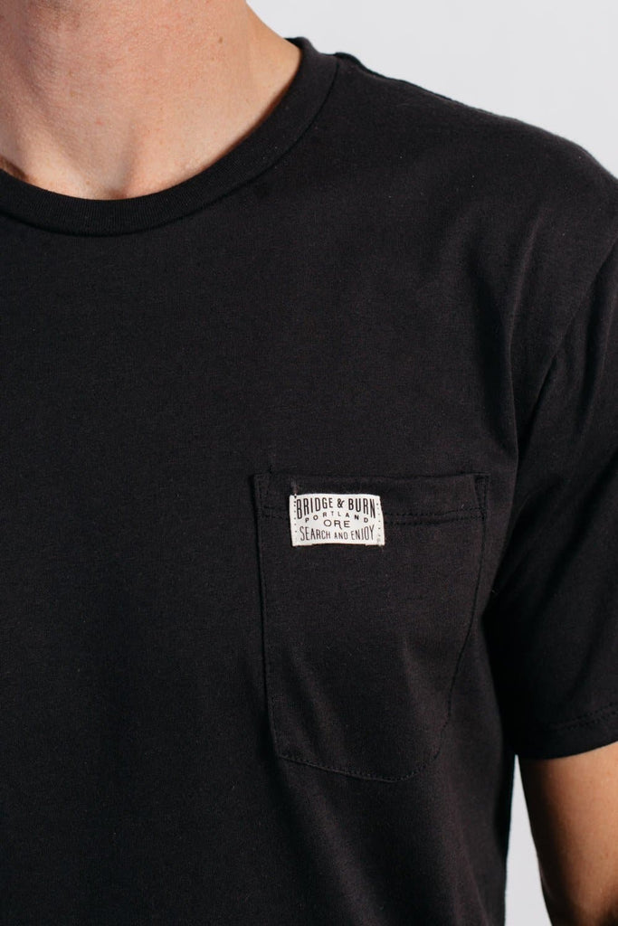 Men's Bridge & Burn Search & Enjoy Pocket Tee Black
