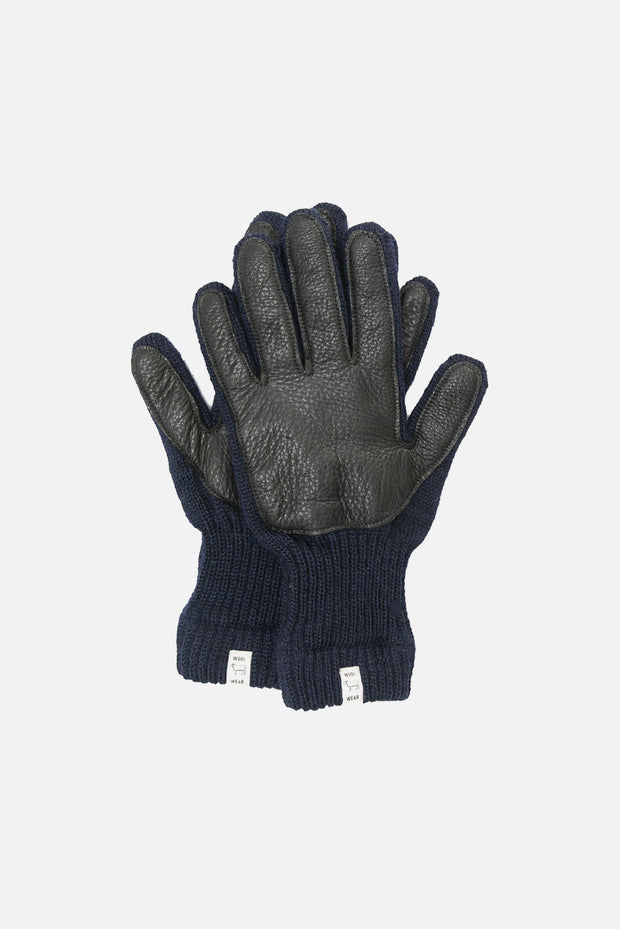 Men's Lined Ragg Wool Glove Navy