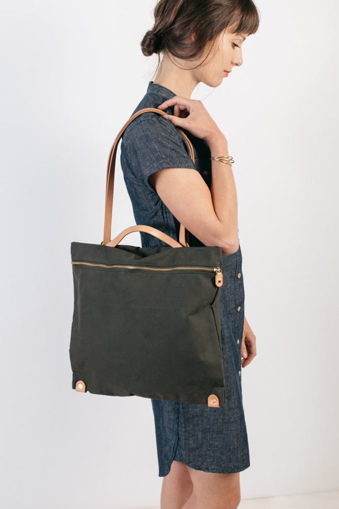 Open Habit All Day Backpack Tote Pine Natural