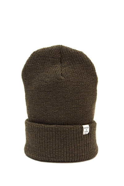 Olive Watch Cap Wool