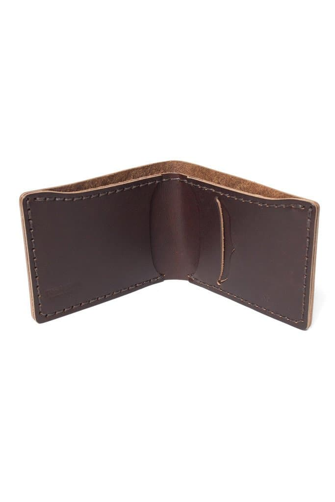 Wood&Faulk Slim Billfold Brown