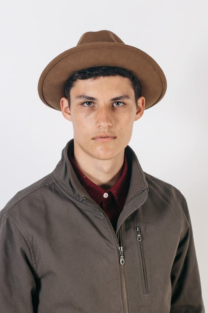 Luke Hat Caramel Wool