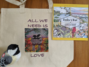 Canvas Bag, DeeDee's Acadia Adventure and Chickadee