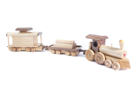 Full Train Set - Engine, Flatbed, and Caboose