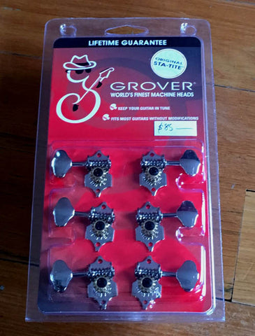 Grover Sta-Tite Tuners H97N Butterbean Buttons - Guitar Emporium